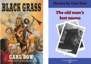 Covers to Black Grass and The Old Man's Last Sauna